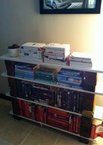 brick bookcase