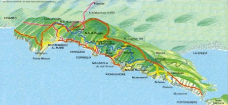 map from cinqueterre.mrvisitor.com