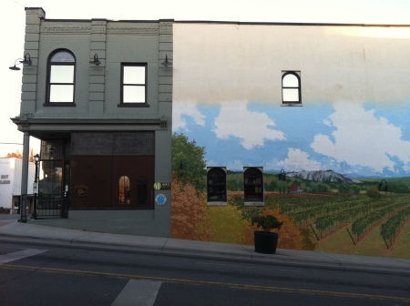 mural with building